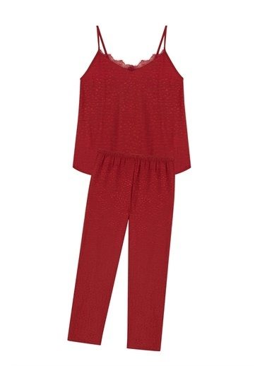 Penti Kırmızı Burgundy Aura Atlet Pantalaon Pijama Takımı Kırmızı